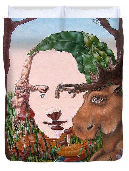 Mona Lisa . Earth Duvet Cover