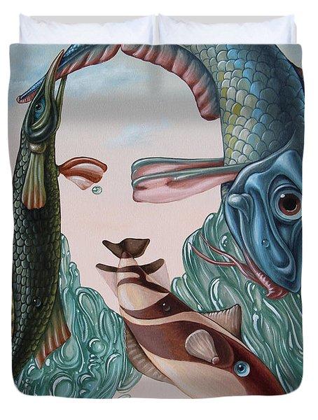 Mona Lisa. Water Duvet Cover
