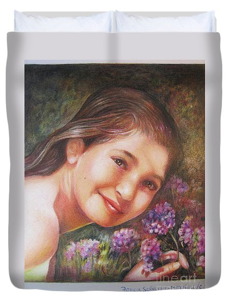 Mona Lisa's Smile Duvet Cover