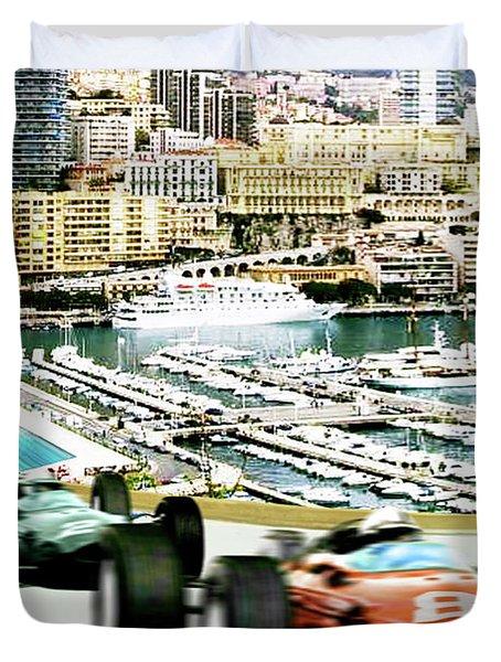 Monaco Grand Prix Racing Poster - Original Art Work Duvet Cover
