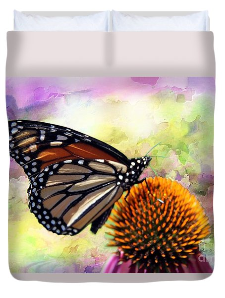 Monarch Abstract  Duvet Cover by Yumi Johnson