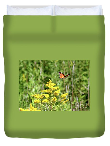 Monarch And Goldenrod Duvet Cover