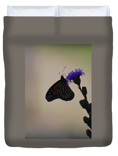 Duvet Cover featuring the photograph Monarch Beauty by Ramona Whiteaker