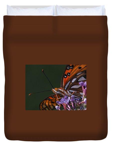 Monarch Butterfly Closeup Duvet Cover