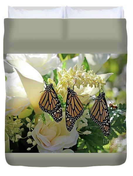 Monarch Butterfly Garden  Duvet Cover