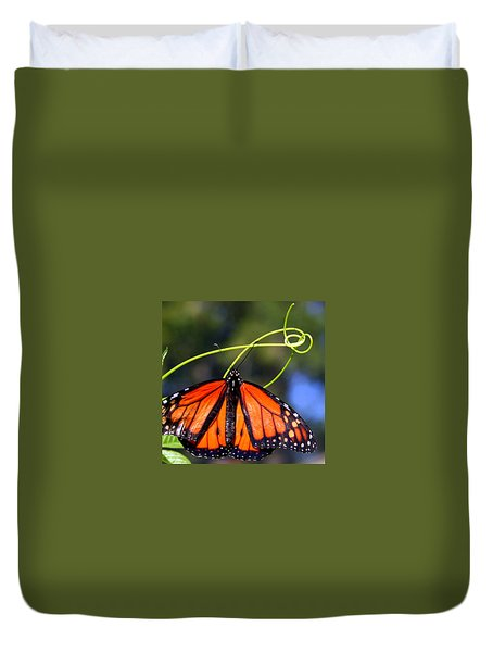 Duvet Cover featuring the photograph Monarch Butterfly by Laurel Talabere