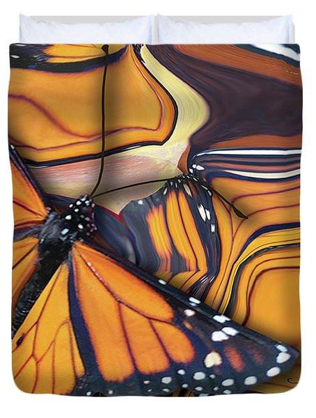 Monarch Flight Duvet Cover