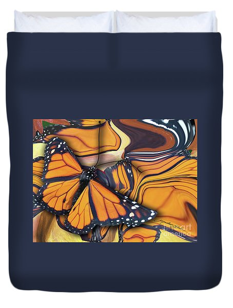 Monarch Flight Duvet Cover