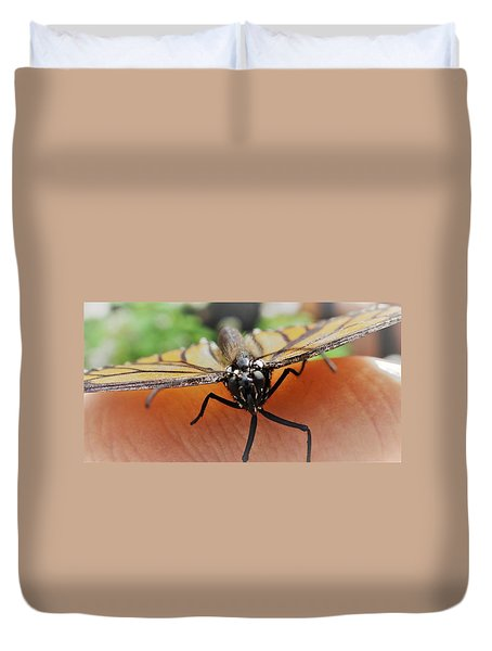 Monarch Greeting Duvet Cover