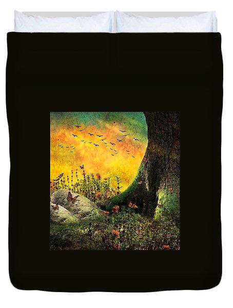 Monarch Meadow Duvet Cover