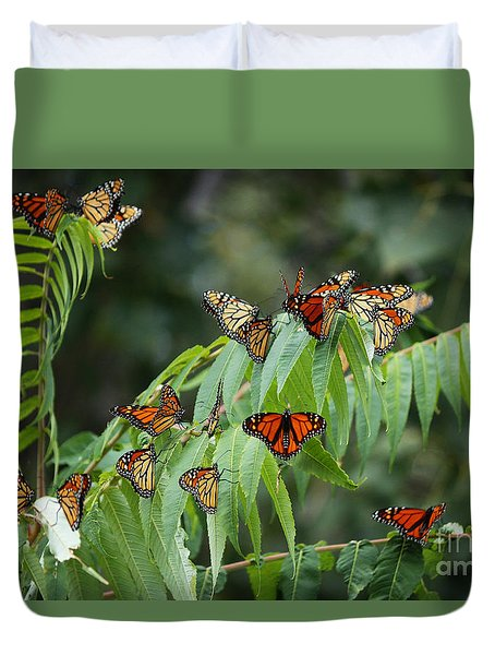 Monarch Migration Duvet Cover