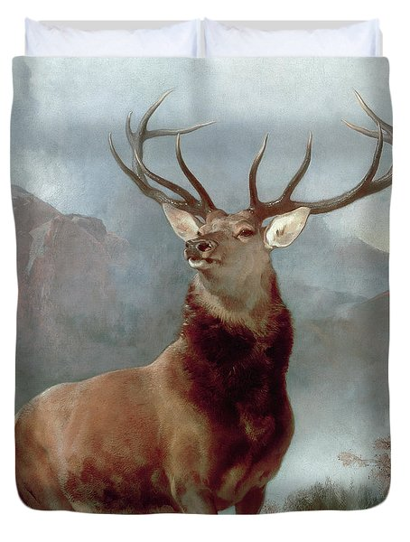 Monarch Of The Glen Duvet Cover by Sir Edwin Landseer