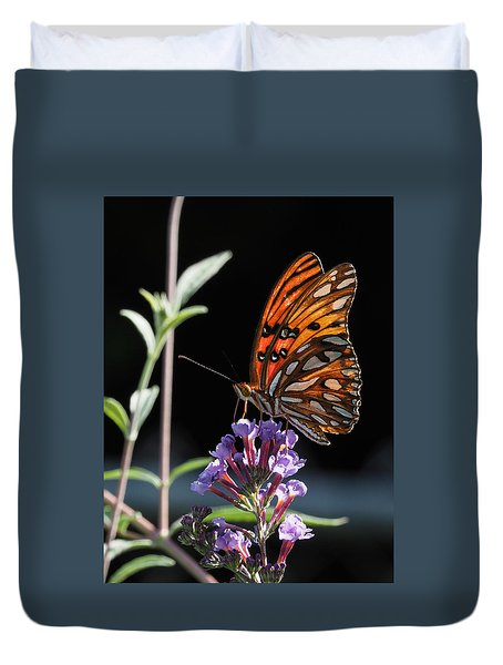 Monarch On Butterfly Bush Duvet Cover