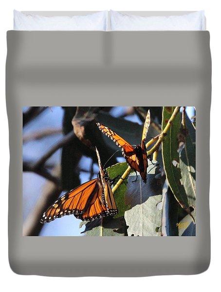 Monarch On Eucalyptus Duvet Cover