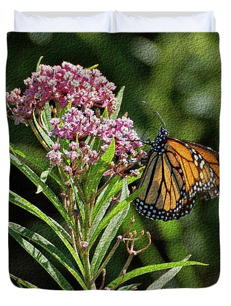 Monarch On Milkweed Duvet Cover