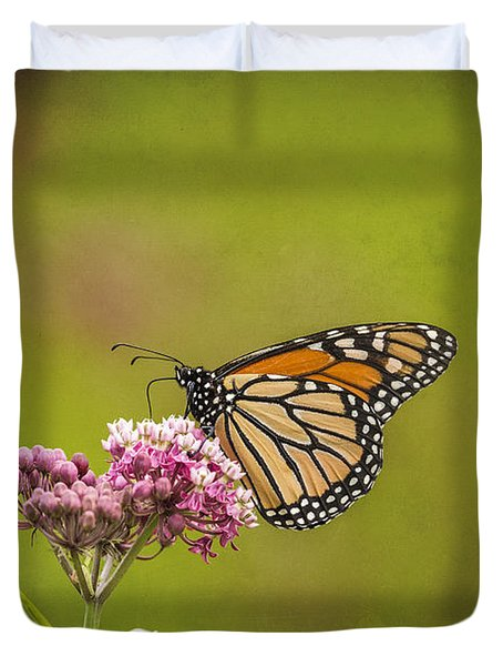 Monarch On Swamp Milkweed 2014-2 Duvet Cover