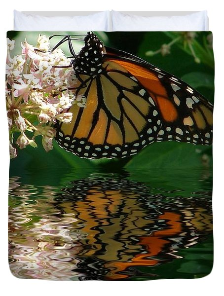 Monarch Reflection Duvet Cover