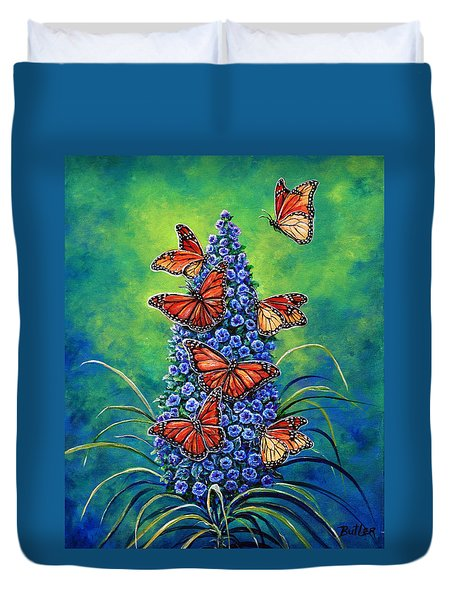 Monarch Waystation Duvet Cover by Gail Butler