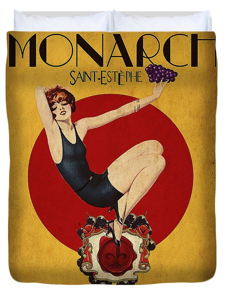 Monarch Wine A Vintage Style Ad Duvet Cover