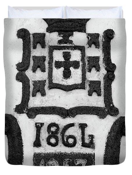 Monarchy Symbols Duvet Cover by Gaspar Avila