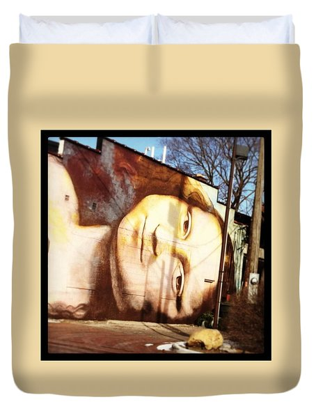 Mona's Facial Expression Duvet Cover