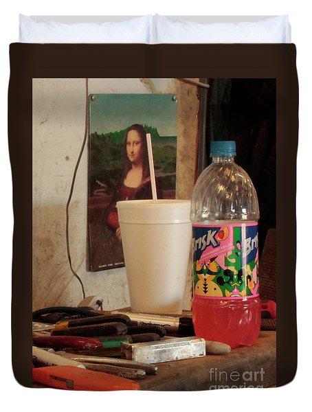 Duvet Cover featuring the photograph Monas Sodas by Joe Jake Pratt
