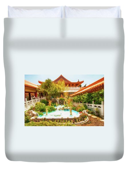 Duvet Cover featuring the photograph Monastery by Joseph Hollingsworth
