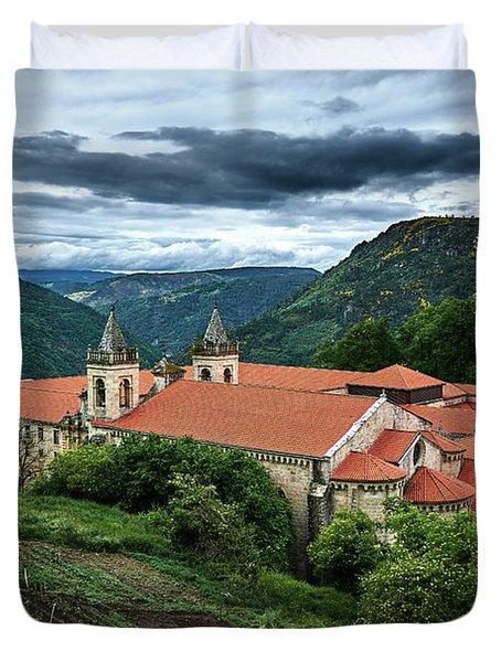 Monastery Of Santo Estevo De Ribas Del Sil Duvet Cover