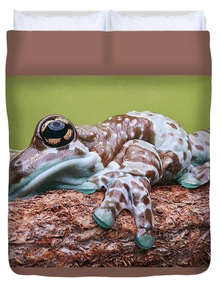 Duvet Cover featuring the photograph Monday Morning by Nikolyn McDonald