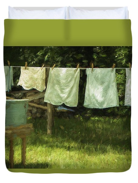 Monday Was Wash Day Duvet Cover by Patrice Zinck