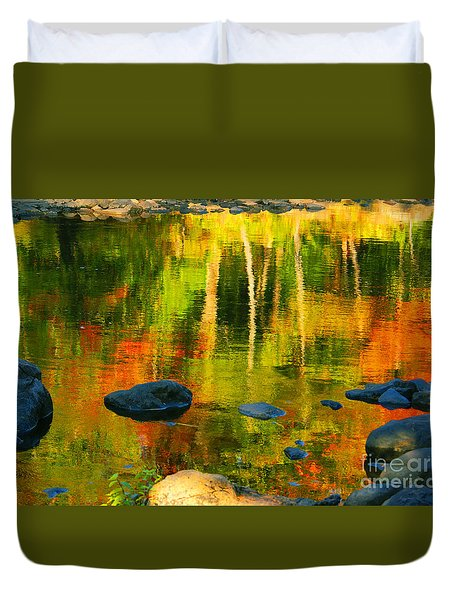 Monet Autumnal Duvet Cover by Aimelle