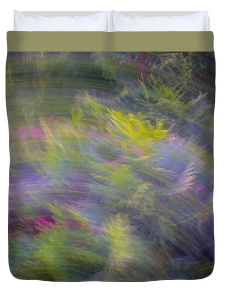 Monet Effect Abstract Image Duvet Cover