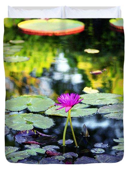 Monet Lilies Duvet Cover