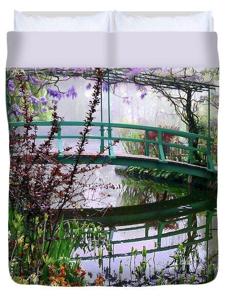 Monet's Bridge Duvet Cover