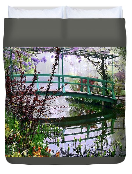 Monet's Bridge Duvet Cover by Jim Hill