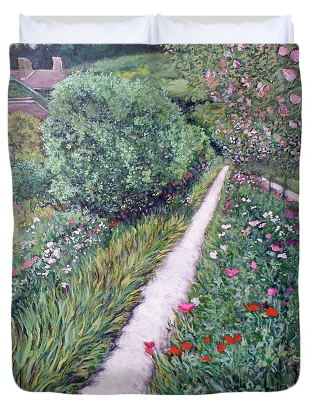 Monet's Garden Path Duvet Cover