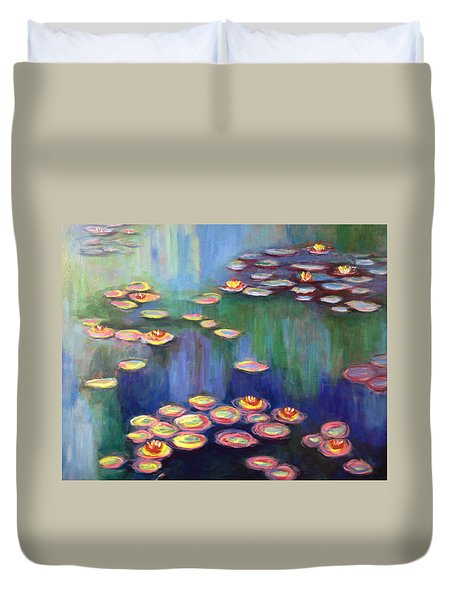 Monet's Lily Pads Duvet Cover