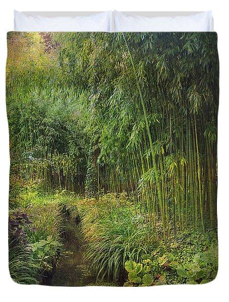 Monets Paradise Duvet Cover