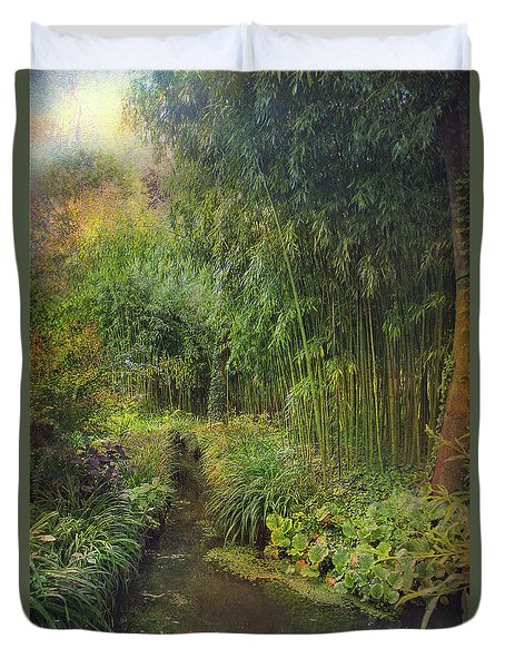 Monets Paradise Duvet Cover