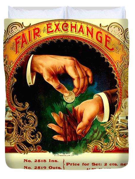 Money Cigar Label Duvet Cover