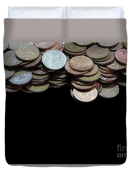 Money Games Duvet Cover
