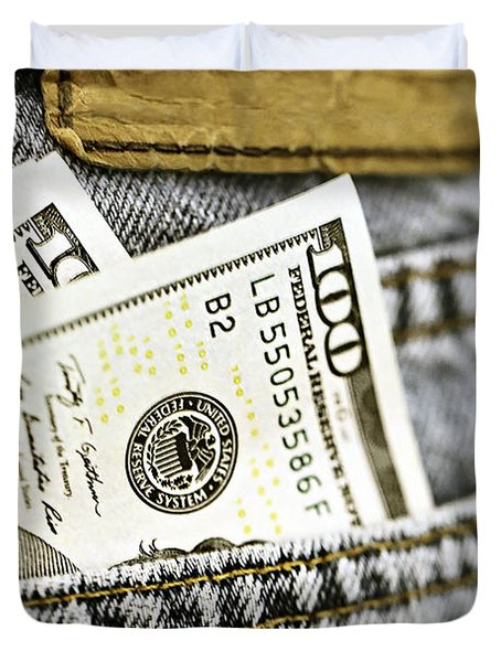 Money Jeans Duvet Cover