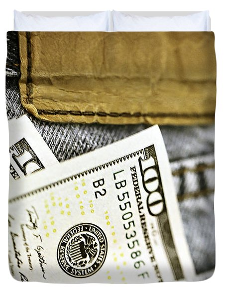 Duvet Cover featuring the photograph Money Jeans by Trish Mistric