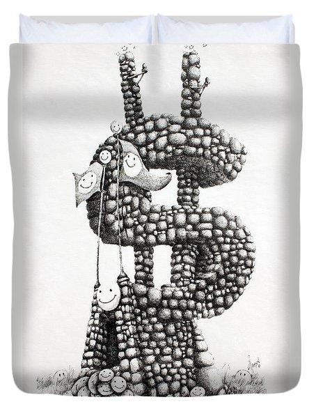 Money Monument Duvet Cover by James Williamson