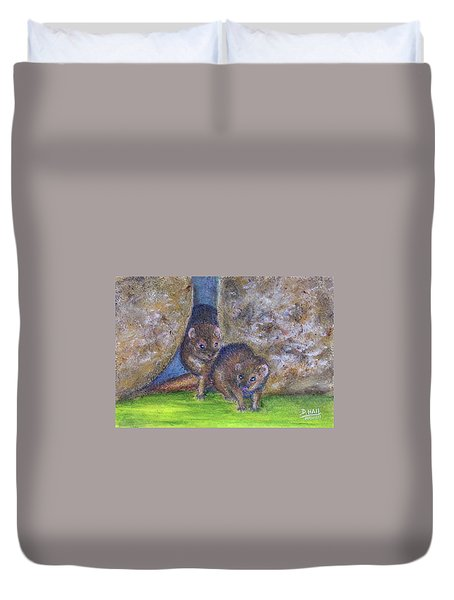 Mongoose #511 Duvet Cover by Donald k Hall