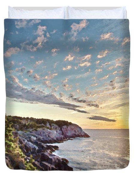 Monhegan East Shore Duvet Cover
