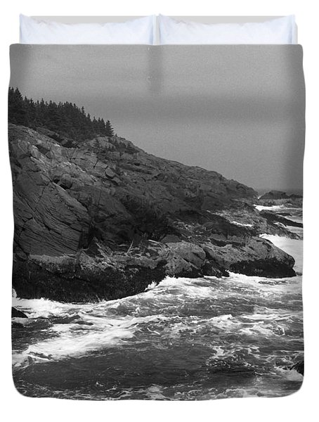 Atlantic Ocean From Monhegan Island Maine Duvet Cover