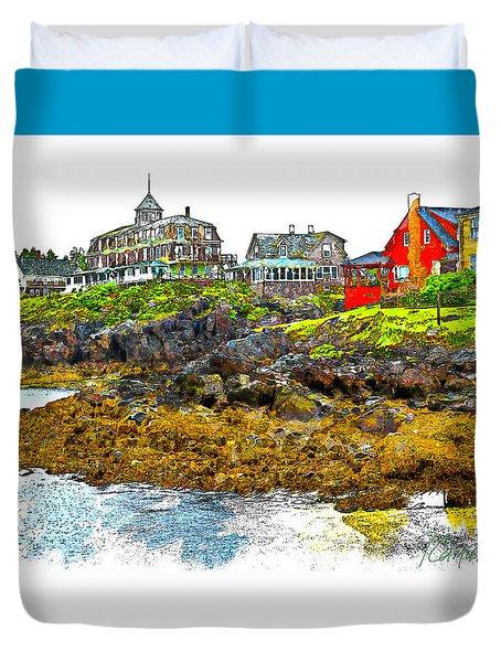 Monhegan West Shore Duvet Cover by Tom Cameron