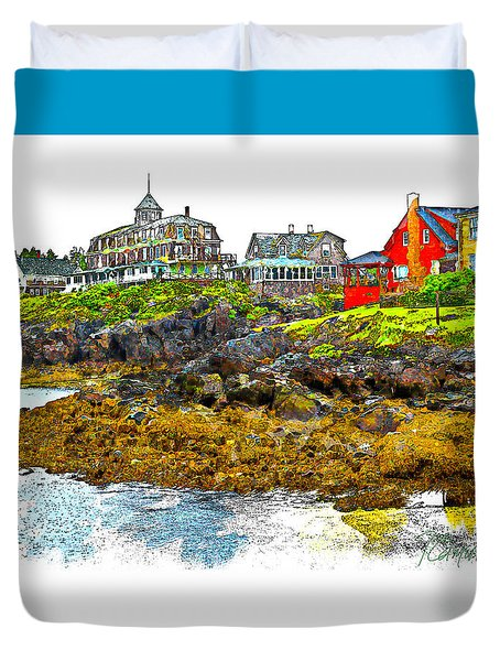 Monhegan West Shore Duvet Cover