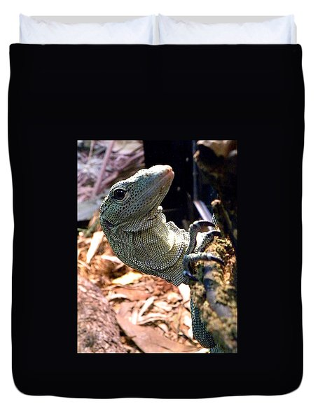 Monitor Lizard 002 Duvet Cover